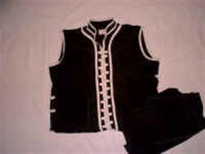 Picture of Custom Southern V-Neck Double Trim Kung Fu Uniform with Rib Buttons