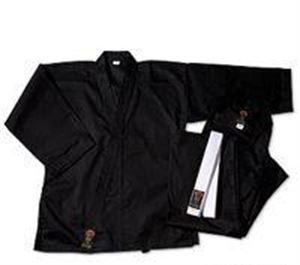 Picture of Gladiator Medium Weight Karate Uniform - Black (100% Cotton)