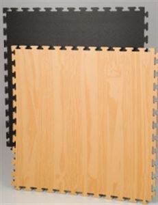 Picture of Reversible Wood / Black Pattern Mat