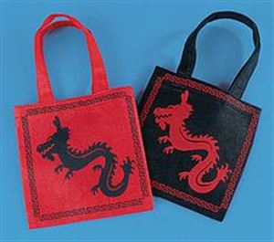 Picture of Martial Arts Dragon Tote Bags