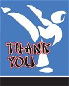 Picture of Black Belt Birthday Thank You Cards