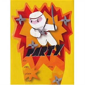 Picture of Ninja Party Invitations Cards