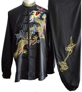 Picture of Black Tai Chi & Uniform with Dragon Embroidery