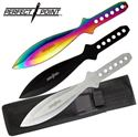 Picture of 3 Piece Tri-Color Throwing Knife Set