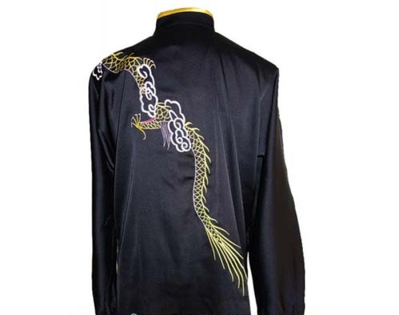 Black & Gold with Dragon Kung fu Uniform